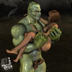 Green monster sex 3d